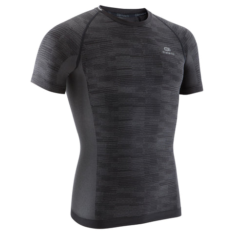 Men's Running T-Shirt Skincare Kiprun,black