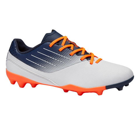 Kids' Soccer Dry Field Low-Top Boots MG Agility 500,pale gray