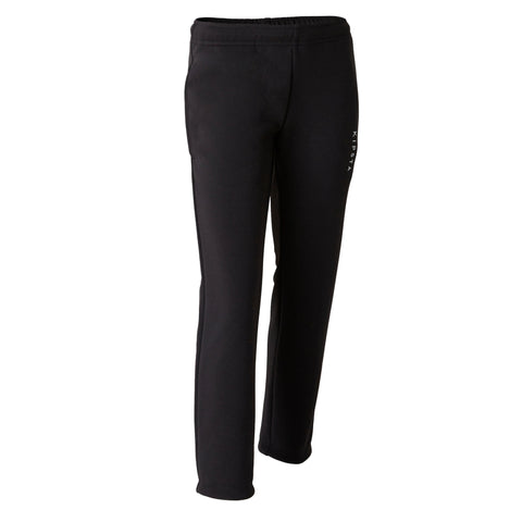 Kids' Soccer Training Bottoms T100,black