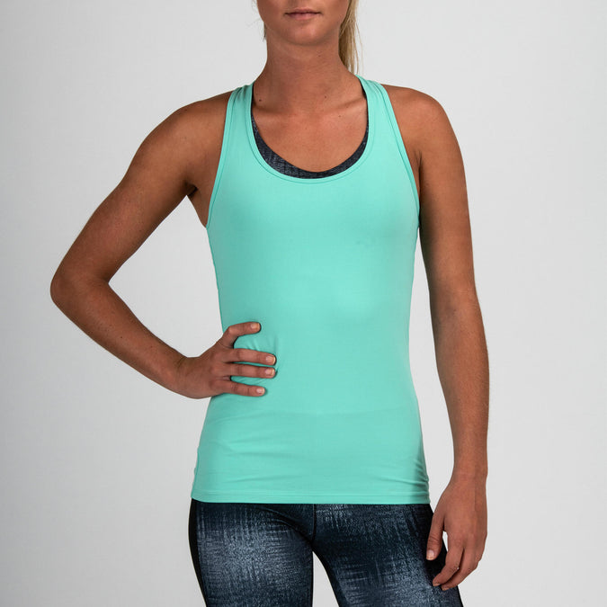 Women's Cardio Fitness Tank Top 100,turquoise green, photo 1 of 10