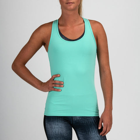 Women's Cardio Fitness Tank Top 100,turquoise green
