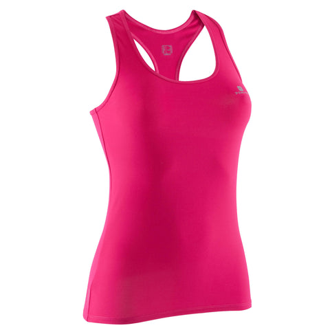 Women's Cardio Fitness Tank Top 100,dark petrol blue