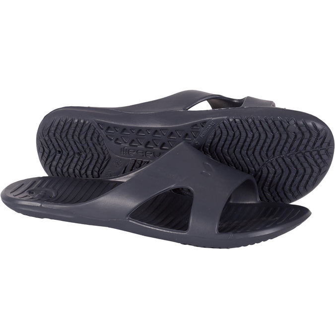 Men's Pool Sandals Basic Slap 100,dark grey, photo 1 of 21