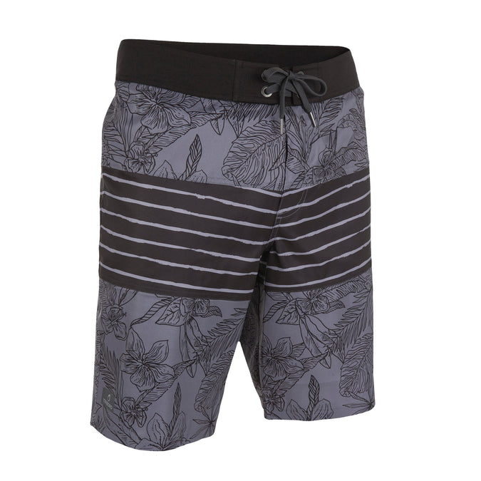 Gray Guethary Leafline men's long swim trunks,dark gray, photo 1 of 11