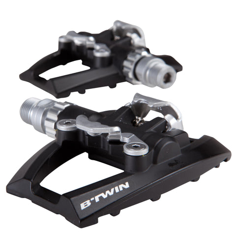 Bike Pedals Dual Platform SPD Compatible 500,base color