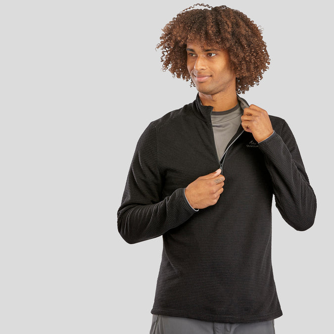 Men's Hiking Fleece MH500,black, photo 1 of 8