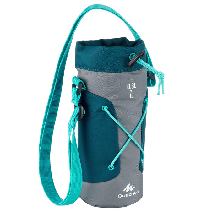 Quechua, Isothermal Cover for 0.75 to 1 Liter Hiking Flasks,dark petrol blue, photo 1 of 5