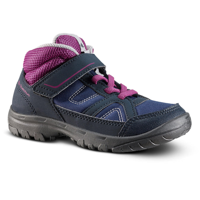 Kids' MH100 High-Top Hiking Shoes,midnight blue, photo 1 of 6