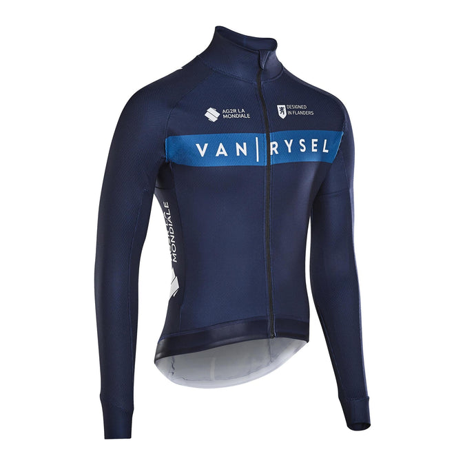 Van Rysel Long Sleeved Road Cycling Jersey, Men's,navy blue, photo 1 of 2