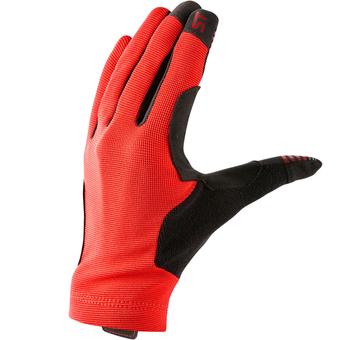 Mountain Biking Gloves ST 100,blood red, photo 1 of 8