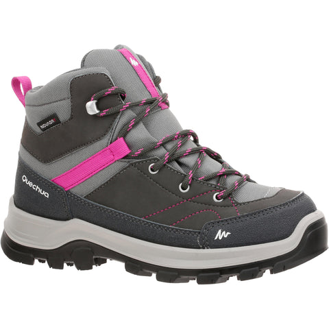 Kids' Hiking Waterproof High-Top Shoes MH500,