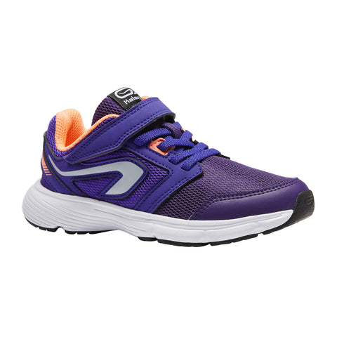 Children's Athletic Shoes with Rip-Tab Run Support,dark violet