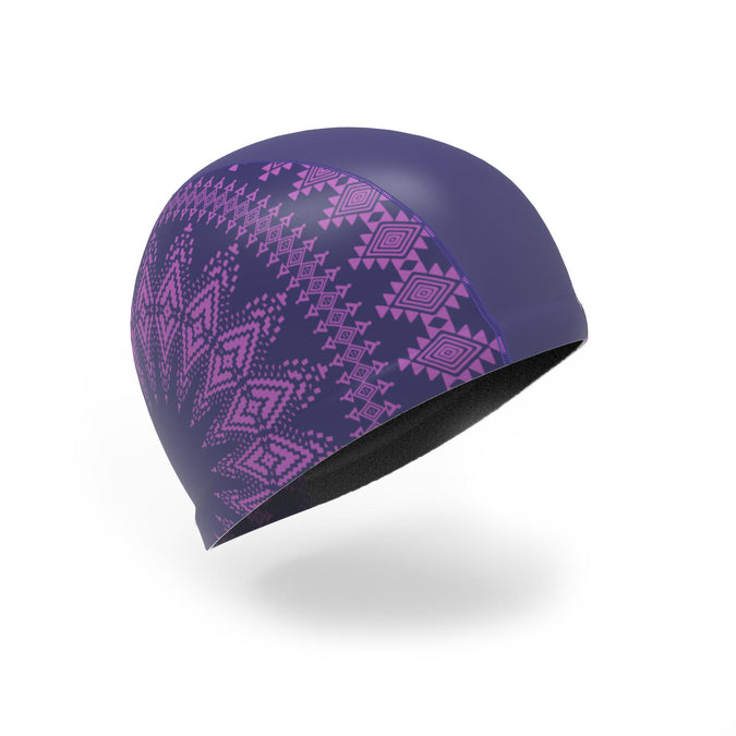 Swim Cap Silicone Mesh Print Size L 500,dark blue, photo 1 of 3
