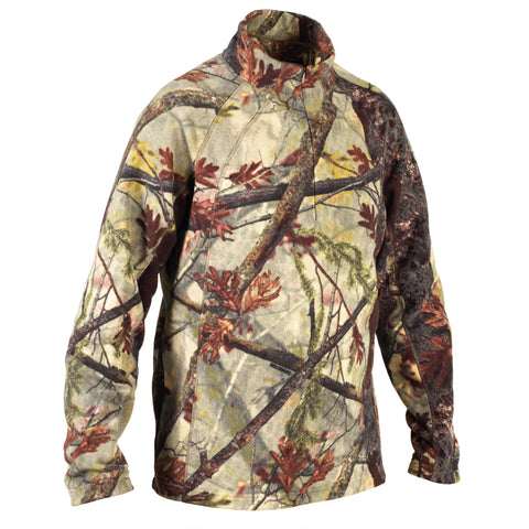 Hunting Pullover Silent Warm 100,camouflage
