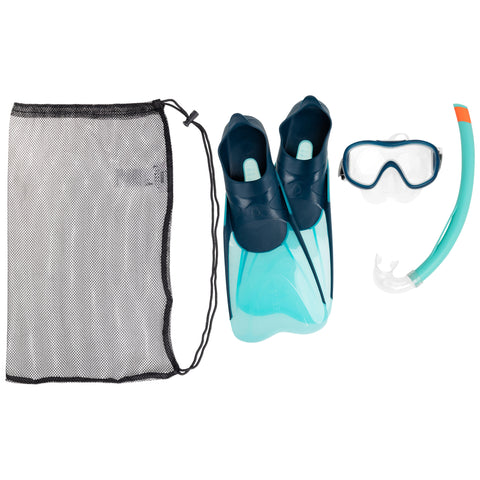 Kid's Snorkeling Kit Mask Snorkel SNK 500,base color