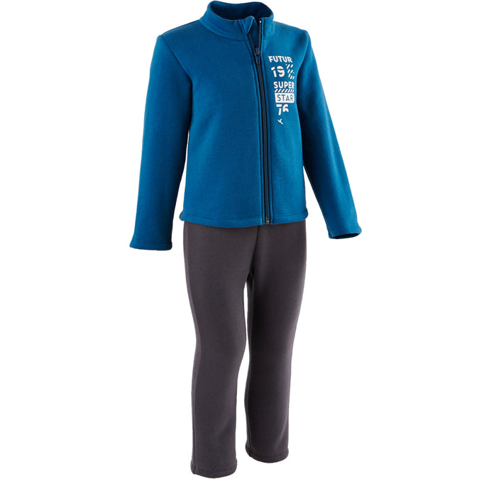 Baby Gym Tracksuit Zip Warm'y 100,prussian blue, photo 1 of 7