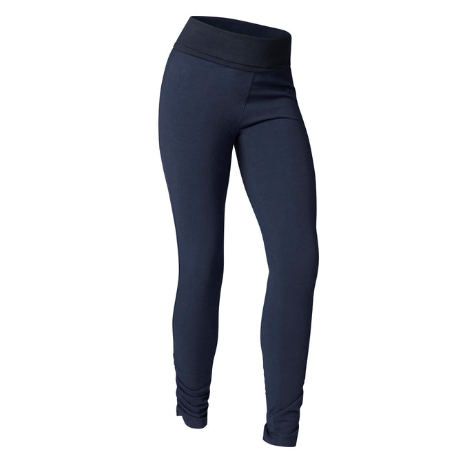 Women's Gentle Yoga Organic Cotton Leggings,navy blue, photo 1 of 9