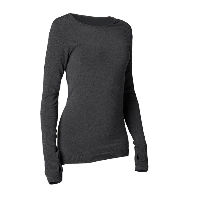 Gentle Yoga Seamless Long-Sleeved T-Shirt,dark grey, photo 1 of 8