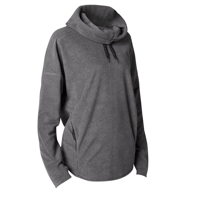 Women's Relaxation Yoga Fleece Sweatshirt,dark grey, photo 1 of 8