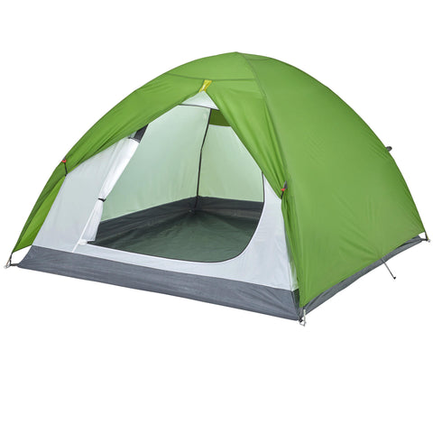 Arpenaz 3-Person Waterproof Camping Tent,bottle green