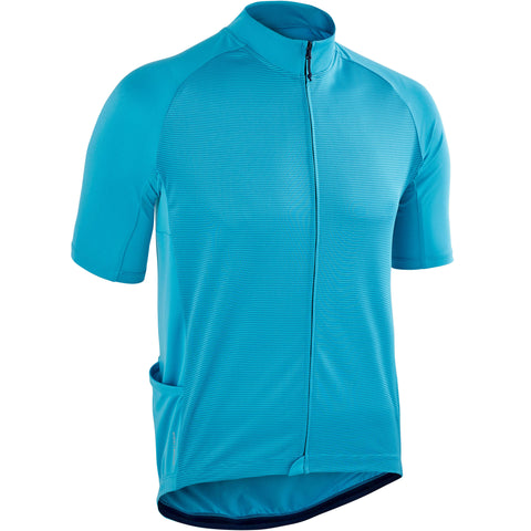 Road Cycling and Touring Short-Sleeved Warm Weather Jersey RC100,