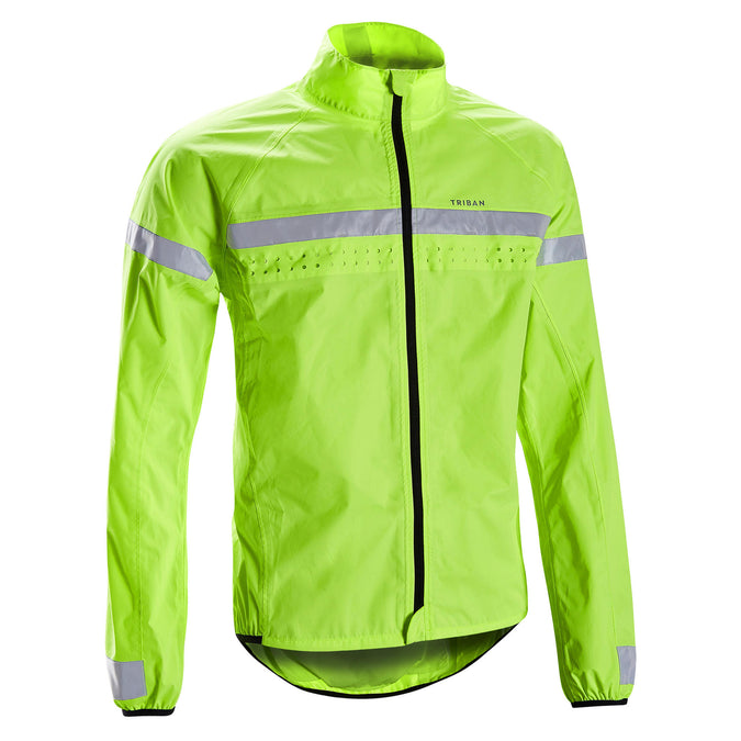 Men's RC120 Visible Road Cycling Jacket,neon green, photo 1 of 5