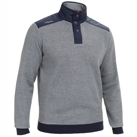 Men's Sailing Warm Pullover Sailing 100,midnight blue
