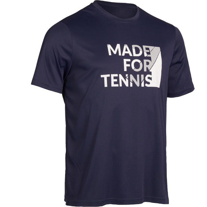 Tennis T-Shirt Soft 100,navy blue, photo 1 of 11