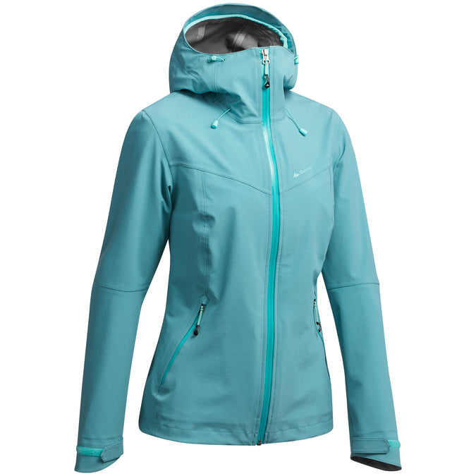Quechua MH500, Waterproof Hiking Jacket, Women's,grey blue, photo 1 of 9