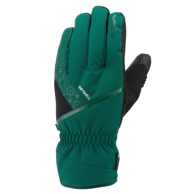Adult Downhill Ski Gloves 500,cypress green, photo 1 of 6