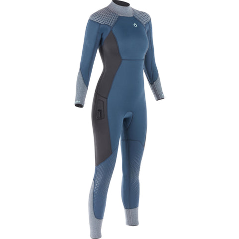 Women's Scuba Diving Wetsuit 5 mm Neoprene SCD500,storm gray