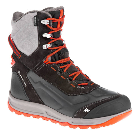Men's Active Snow Hiking Warm Waterproof Shoes SH900,vermilion