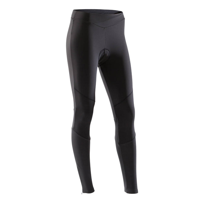 Women's Cycling Tights 500,black, photo 1 of 15