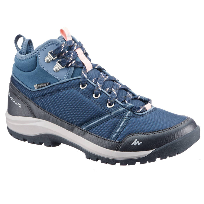 Women's Country Walking Shoes Mid Protect NH150,dark blue, photo 1 of 10