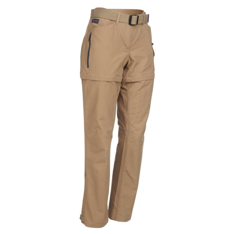 Women's Travel Backpacking Zip-Off Pants Travel 500,