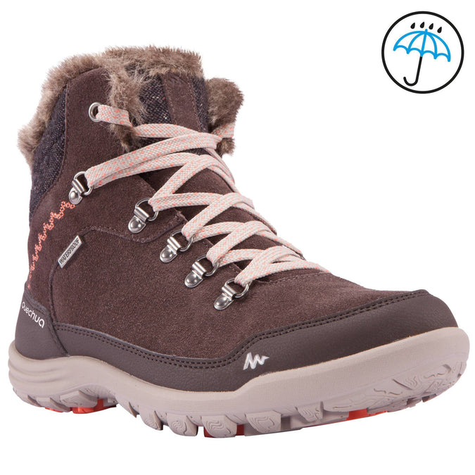 Women's Snow Hiking Warm Waterproof Boots Arpenaz 500,coffee, photo 1 of 7