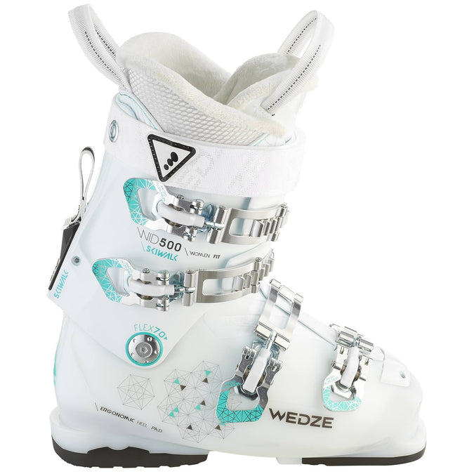 Women's Ski Boots Wid 500,white, photo 1 of 10