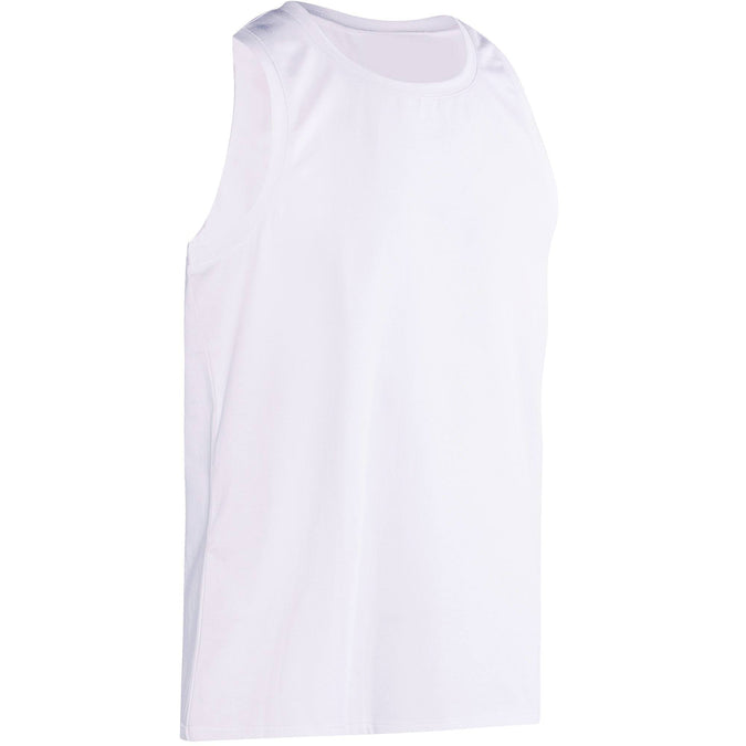 Men's Gym & Pilates Breathable Cotton Tank Top,snowy white, photo 1 of 9