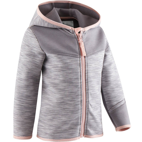 Domyos 500, Gym Jacket, Babies',steel gray