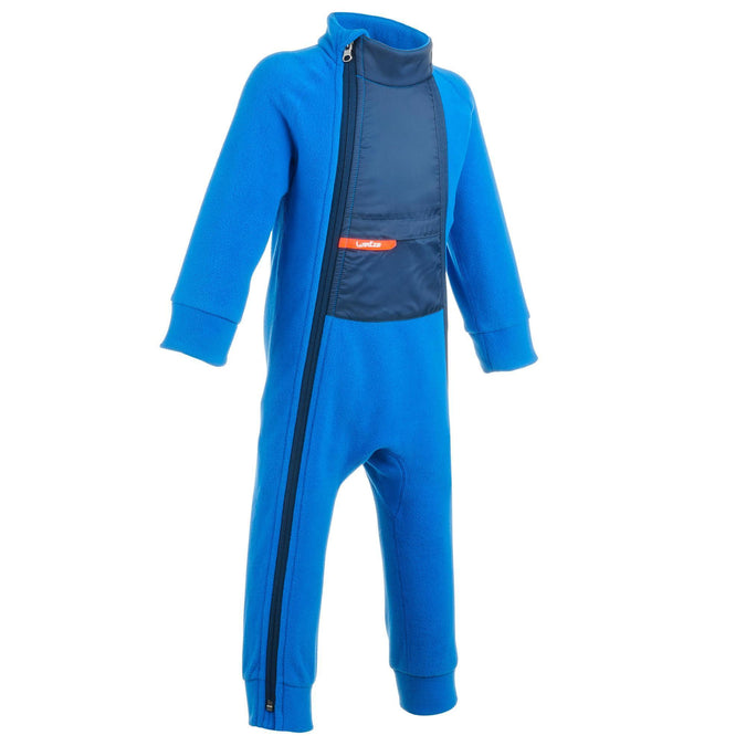 Babies' Skiing/Sledging Fleece Suit Midwarm,cobalt blue, photo 1 of 9