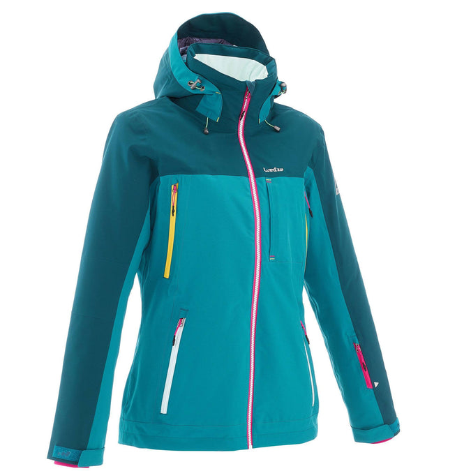 Women's Freeride Jacket 500,dark petrol blue, photo 1 of 33