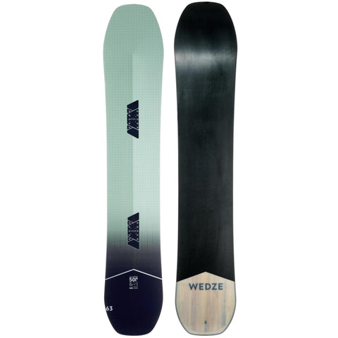 Men's All Mountain Freeride Snowboard All Road 500,verdigris