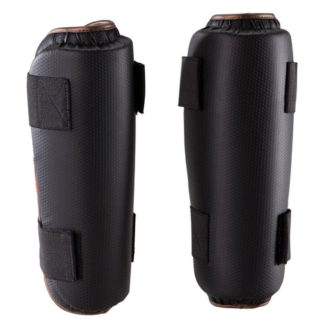 Martial Arts Carbon PU Shin Guard,