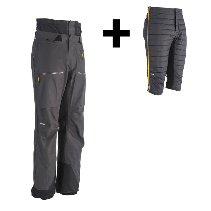 Wedze FR900, Freeride 3-in-1 Ski Pants, Men's,carbon gray, photo 1 of 8