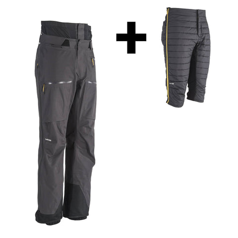Wedze FR900, Freeride 3-in-1 Ski Pants, Men's,carbon gray