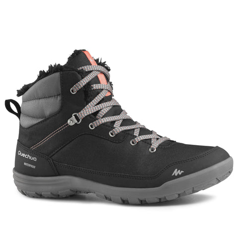 Quechua SH100 Warm, Waterproof Mid Hiking Boots, Women's,