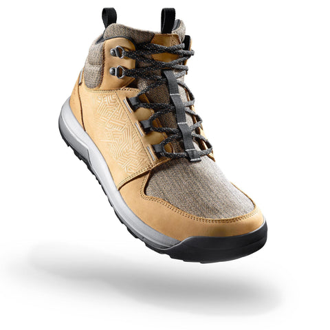 Men's Country Walking Mid Waterproof Boots NH500,hazelnut
