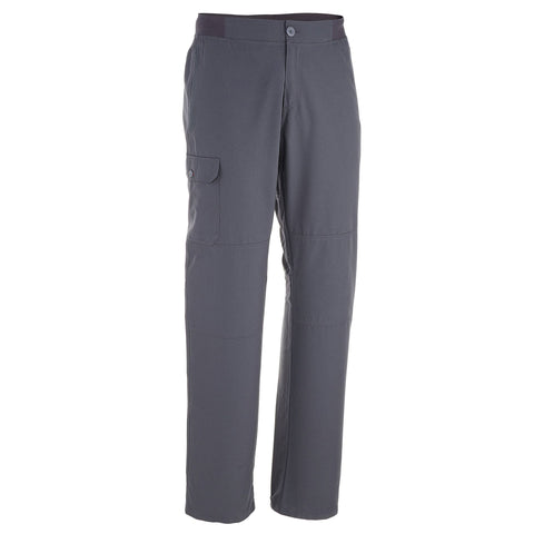 Men's Nature Hiking Pants NH100,carbon gray