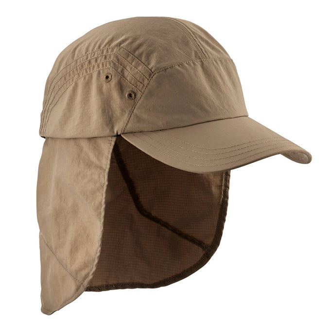 Mountain Backpacking UV Protective Cap Trek 900,brown, photo 1 of 13