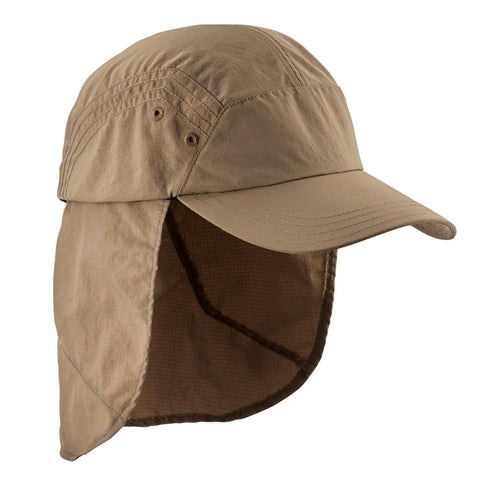 Mountain Backpacking UV Protective Cap Trek 900,brown
